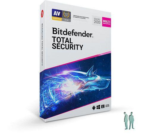Bitdefender Total Security 2020 - 5 Dispositivos | 1 Ano | PC/MAC