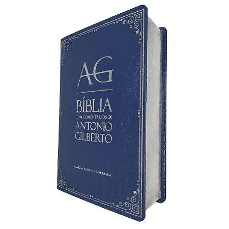 Bíblia Com Comentários De Antonio Gilberto Azul - Cpad