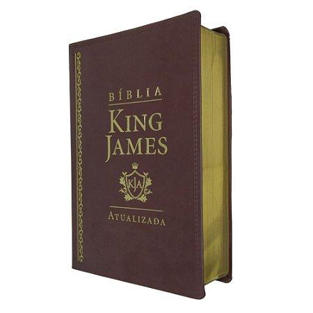 Bíblia De Estudo King James Atualizada Grande Marrom