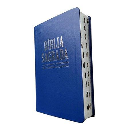 Bíblia Sagrada RC com Dicionário e Concordância - Luxo Azul