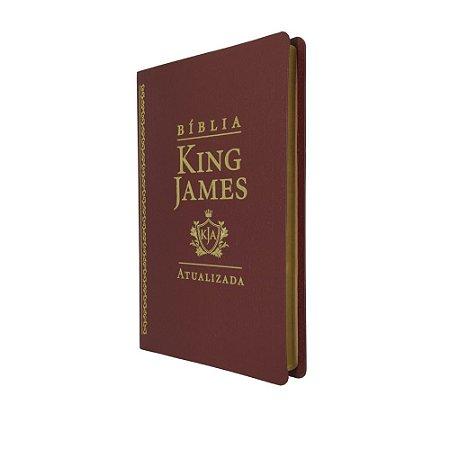 Bíblia King James Atualizada Slim Capa Luxo Vinho - Art Gospel