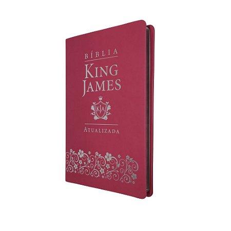 Bíblia King James Atualizada Slim Capa Luxo Pink - Art Gospel