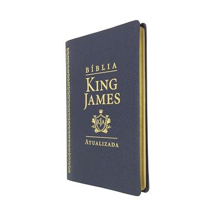 Bíblia King James Atualizada Slim Capa Luxo Preta - Art Gospel