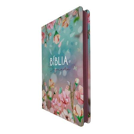 Bíblia Slim NVI Capa Ilustrada Flores - Art Gospel