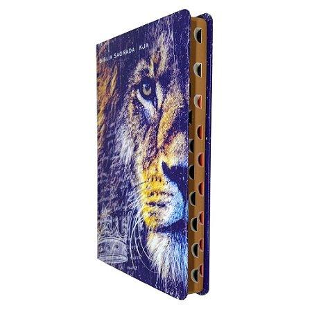 Bíblia King James Atualizada Slim Capa Leão Azul