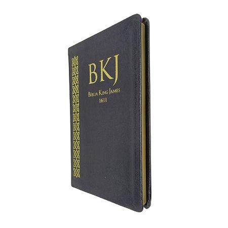 Bíblia King James 1611 Fiel Slim Ultra Fina Preta