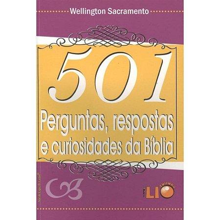 Livro 501 Perguntas Repostas E Curiosidades Da Biblia