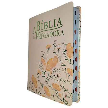 A Bíblia Da Pregadora RA Grande Capa Rosa Flores Esperança