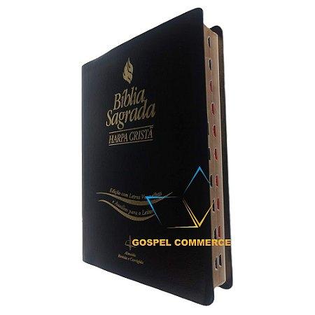 Bíblia Letra Extragigante Com Índice - Palavras de Jesus em Vermelho Preta - Cpad