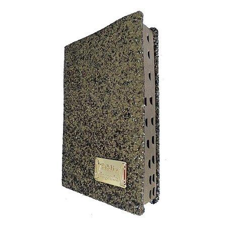 Bíblia Sagrada Letra Gigante Glitter Dourada