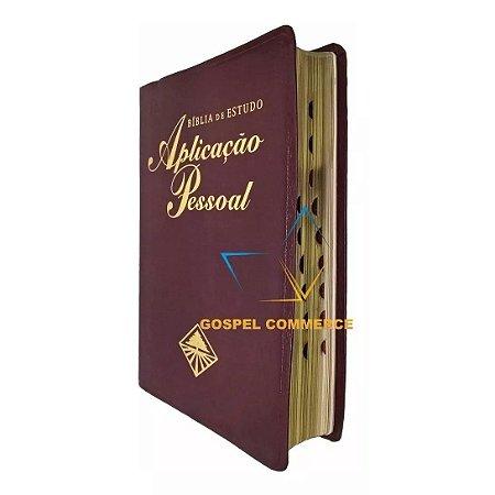Bíblia De Estudo Aplicação Pessoal Com Índice Grande Luxo Vinho - Cpad