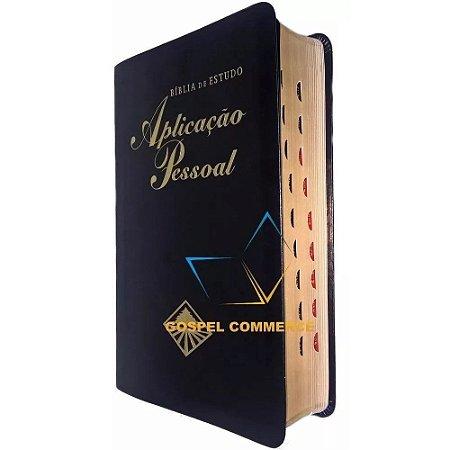 Bíblia De Estudo Aplicação Pessoal Média Luxo Preta - Cpad