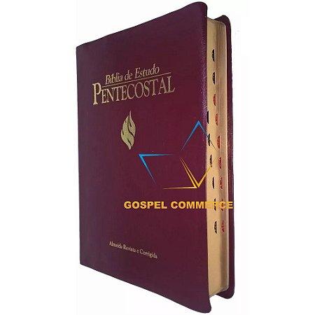 Bíblia de Estudo Pentecostal Grande Vinho Com Índice - Cpad
