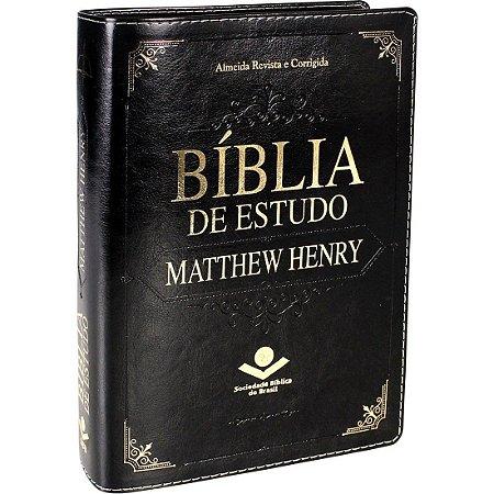 Bíblia de Estudo Matthew Henry Luxo Preta Sbb
