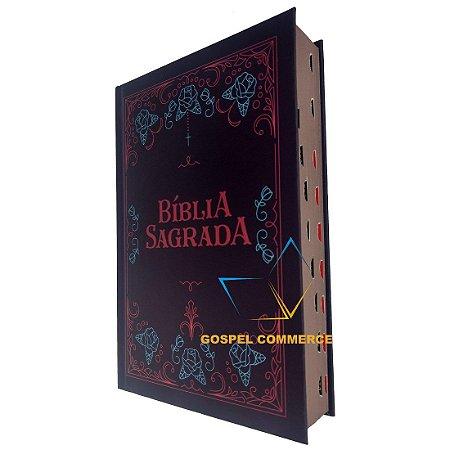 Bíblia Sagrada Média Letra Grande NVT Ornamentos Com Índice - Mundo Cristão