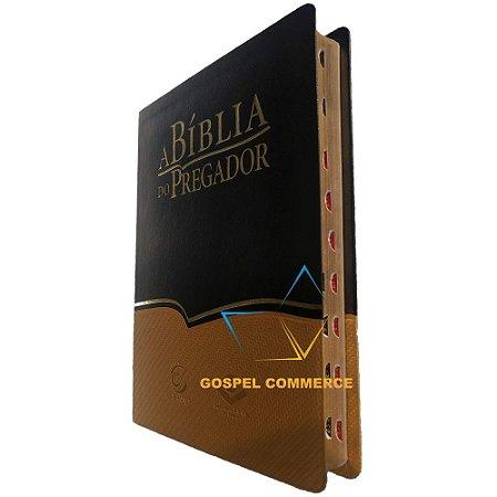 A Bíblia do Pregador Preto Com Dourado Ra - Sbb