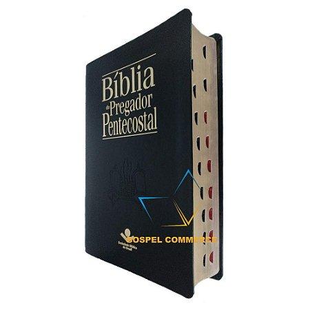 Bíblia Do Pregador Pentecostal Grande Preta Luxo - Sbb