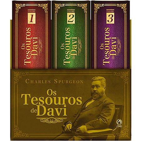 Box Os Tesouros De Davi - Charles Spurgeon - Cpad 3 Volumes