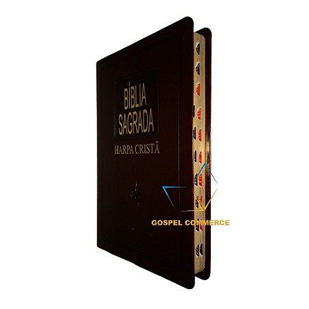 Bíblia Sagrada Slim Com Harpa Cristã - Marrom - Cpad