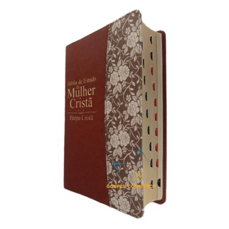 Bíblia De Estudo Da Mulher Cristã - Média Marrom Com Harpa e Índice- Cpad