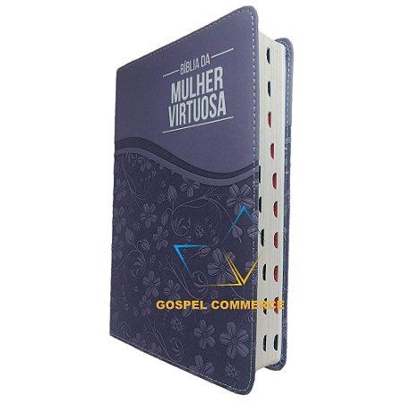 Bíblia da Mulher Virtuosa Com Índice - Purple- Atos