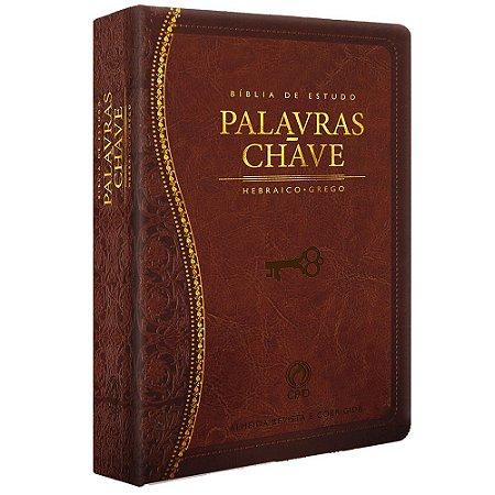 Bíblia de Estudo Palavras-Chave Luxo Grande Marrom Clássica - Cpad