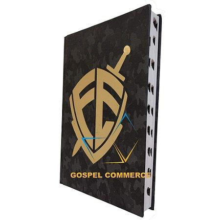 Bíblia Jovem - Escudo Fé Preta Capa Dura - Cpp