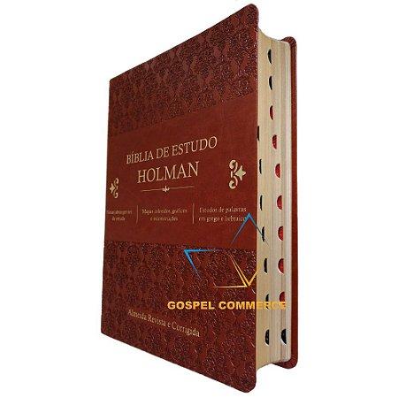 Bíblia de Estudo Holman- Grande Marrom Com Índice - Cpad
