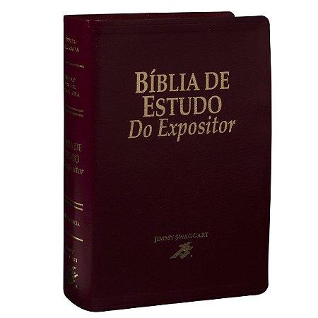 Bíblia De Estudo Do Expositor - Jimmy Swaggart Vinho - Sbb