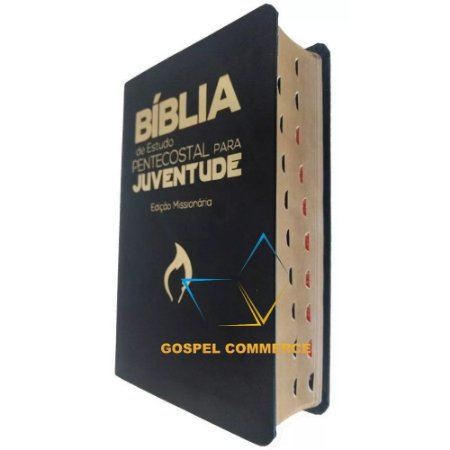Bíblia de Estudo Pentecostal Para Juventude - Com Índice Luxo Preta - Cpad