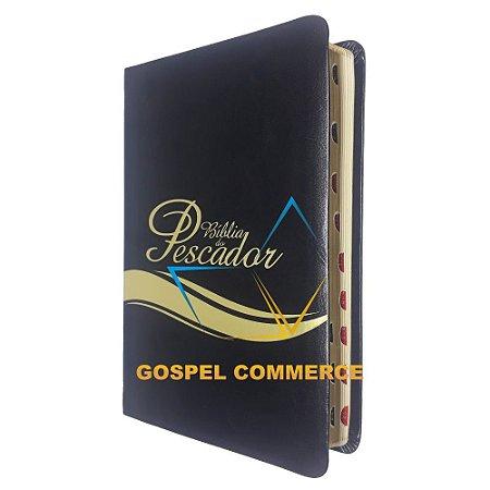 Bíblia do Pescador - Luxo NVI Preta - Bv Books