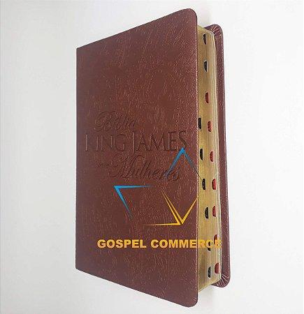 Bíblia King James Para Mulheres - Marrom Com Índice - Bv Books