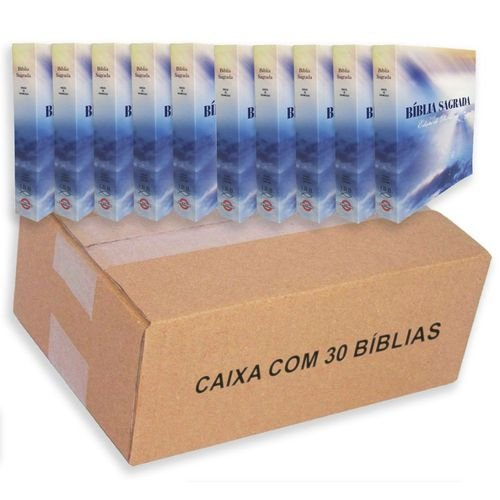 Kit 30 Bíblia Sagrada Brochura Pequena Evangelização - Edição Promessas