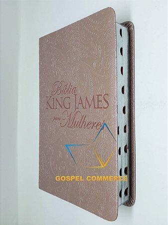 Bíblia King James Para Mulheres - Rosê Gold Com Índice - Bv Books