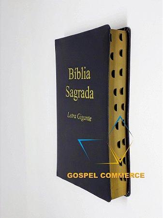 Bíblia Sagrada Letra Gigante Preta SEM Harpa Edição Promessas