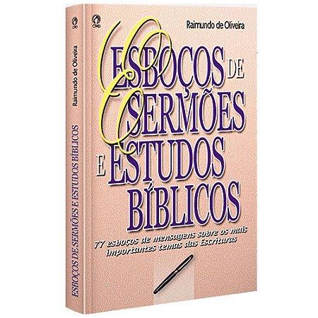 Livro Esboços De Sermões E Estudos Bíblicos Cpad