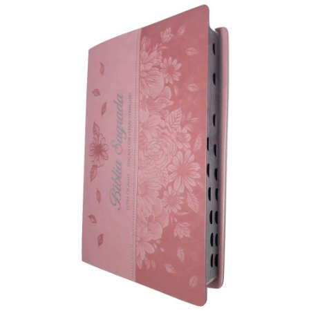 Bíblia Sagrada Letra Gigante - Rosa Letras Vermelhas - Sbb