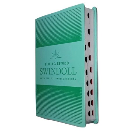 Bíblia De Estudo Swindoll NVT - Aqua - Capa Luxo - Índice