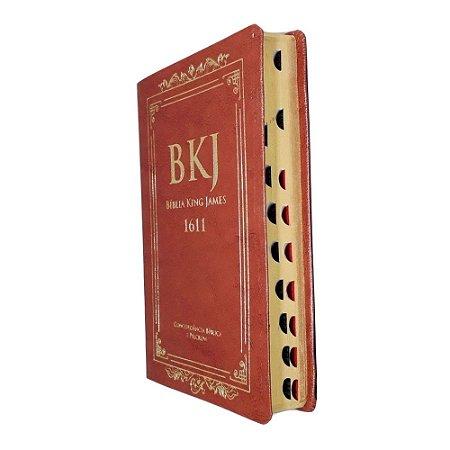 Bíblia King James 1611 Concordância Standard - Marrom - Bv
