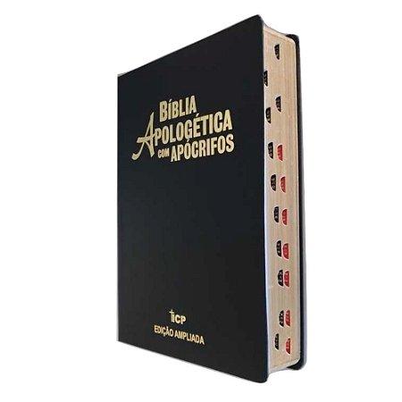 Bíblia Apologética com Apócrifos - RC- Letra Grande- Preta