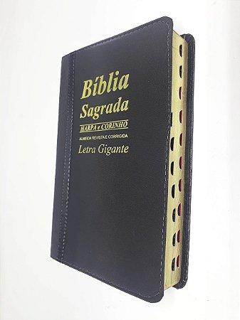 Bíblia Sagrada Letra Gigante Preta Bicolor Promessas