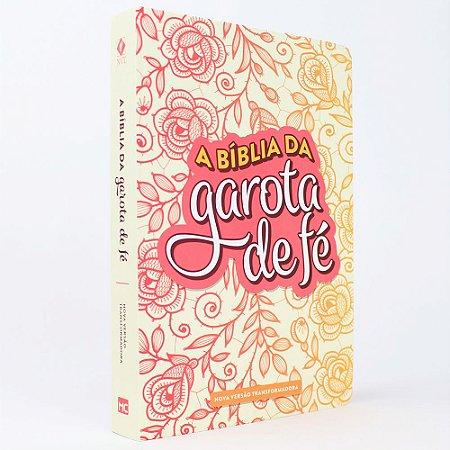 Bíblia da Garota de Fé NVT - Rosas - Mundo Cristão