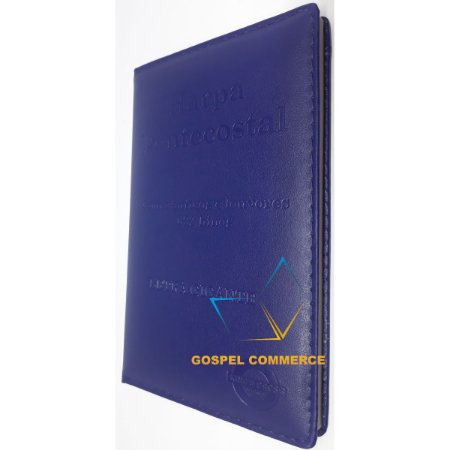 Harpa Pentecostal Com Corinhos Grande Letra Gigante Azul