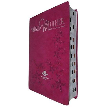 A Bíblia da Mulher RA Com Índice - Púrpura Nobre Grande