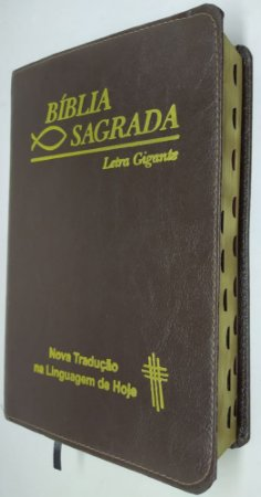 Bíblia Sagrada Letra Gigante Ntlh Covertex Marrom - Sbb