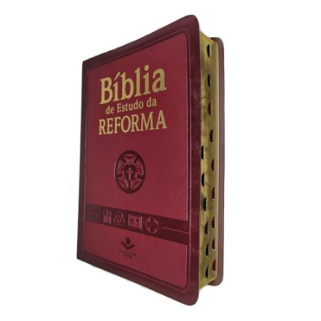 Bíblia de Estudo da Reforma - Luxo VInho - SBB