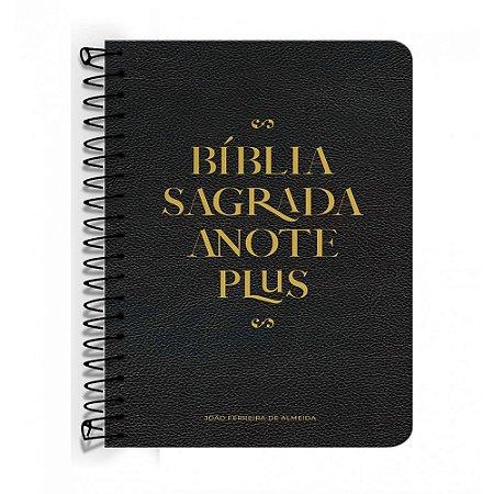 Bíblia Anote Plus ARC ESPIRAL - Preta