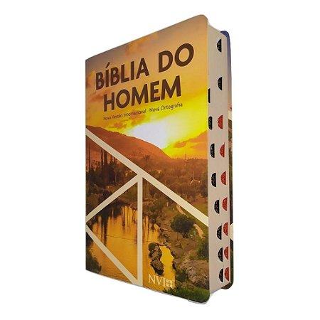 Bíblia do Homem NVI - Pôr do Sol - Semi Luxo