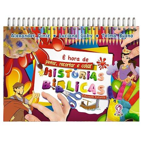Livro Infantil É Hora de Pintar, Recortar e Colar - Cpad