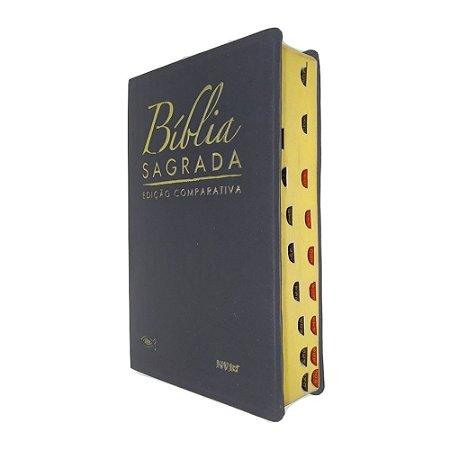 Bíblia Sagrada Edição Comparativa NVI E JFA Capa Luxo Preta